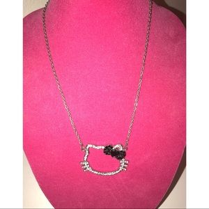 💫 Hello Kitty Rhinestone Cat Ear Necklace 💫